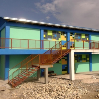 Ecole Baptiste Bon Berger - Pele, Simon Pele, Haiti, Client: Ecole Baptiste Bon Berger - Pele, Project Partners - Haiti Child Sponsorship, GiveLove, Stiller Foundation, Students Rebuild, Burtland Granvil - Staff Architect at Architecture for Humanity - Rebuilding Center